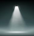 Lantern illuminates the dark space vector image