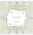 Leaves And Banner vector image