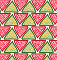 Painted red and green triangles with dots vector image