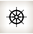Silhouette ship wheel on a light background vector image