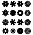 simple flowers vector image