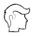sketch human profile man male icon vector image