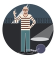 Thief in the Prison vector image