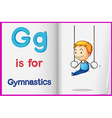 A picture of gymnastics in a book vector image