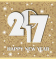 new year 2017 concept on soft golden shining vector image