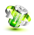 Green battery vector image vector image