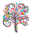 doodle marker hand drawing of ornate tree vector image vector image