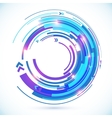 Abstract blue techno spiral background vector image