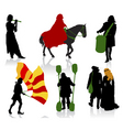 medieval people vector image vector image