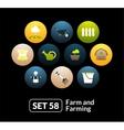 Flat icons set 58 - farm and farming vector image