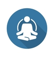 Yoga Fitness Icon Flat Design vector image