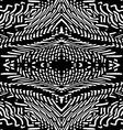Seamless monochromatic pattern or background Black vector image vector image