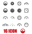 grey meter icon set vector image