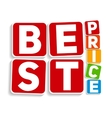Best Price Sign Template vector image