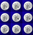 business document icon set vector image
