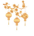 chinese new year stylized gold for chinese vector image