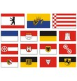 City flags of germany vector image