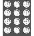 clocks showing different time vector image