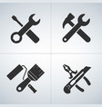 cross tools icon set vector image