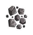 flat cartoon lumps of coal vector image