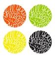 Lettering element in four colors vector image