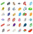 mobile program icons set isometric style vector image