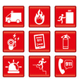 Set of emergency icons vector image