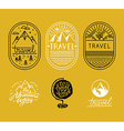 set of linear badges in trendy linear style vector image