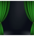 Stage green curtain vector image