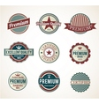 Premium Labels vector image vector image