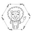 Lion animal cartoon design vector image