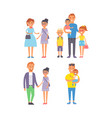 family people adult happiness smiling group vector image