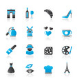 france culture and industry icons vector image