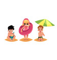 babies kids children on the beach sea summer vector image