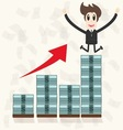 Business man making money vector image vector image