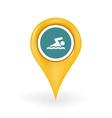 Swimming Location vector image
