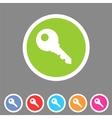 Key lock log in icon flat web sign symbol logo vector image
