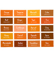 Orange Tone Color Shade Background with Code vector image