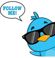 Smiling Bird Cartoon vector image vector image