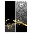 gold floral banners vector image vector image