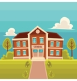 Front view school building cartoon vector image