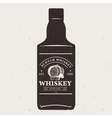 Hand drawn whiskey bottle with logo Typography vector image