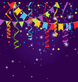 happy party or festive blue background vector image