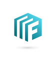 Letter F document logo icon design template vector image