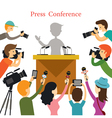 Press Conference Journalist Interview vector image