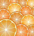 Abstract with pattern oranges slices vector image vector image
