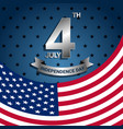 american flag for independence day of usa vector image