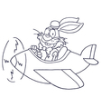 Easter bunny cartoon vector image vector image