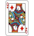 queen of diamonds vector image vector image