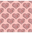seamless pattern with hearts made of red rose vector image